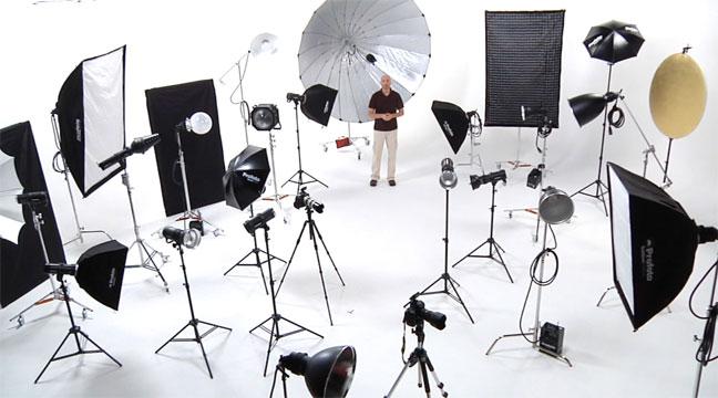 студийной фотосъёмки.